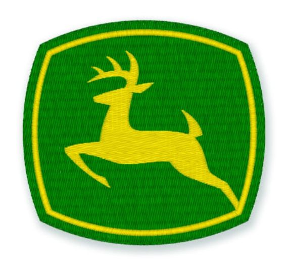 John Deere Emblem Embroidery Designs : John deere machine embroidery design