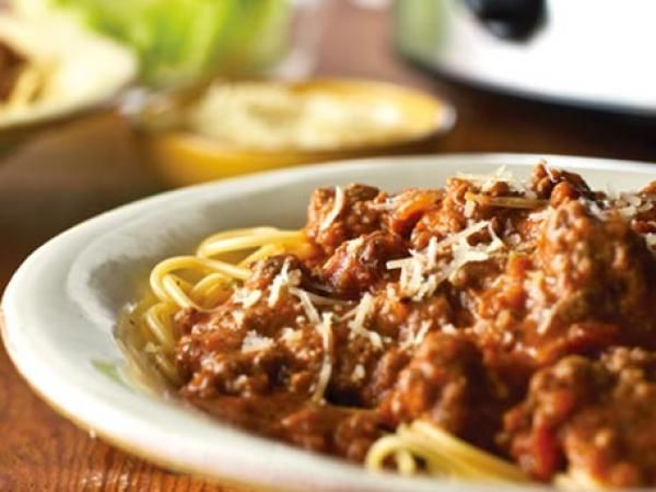 Slow Cooker Spaghetti Bolognese | KitchenDaily.com Gotta try this with ...