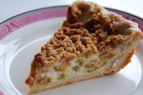 Rhubarb sour cream pie. | Desserts To Make | Pinterest