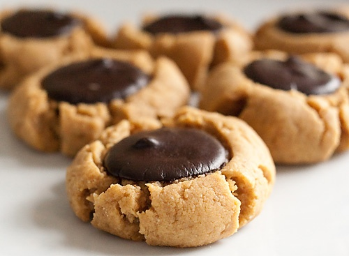 Low Carb Peanut Butter Thumb Print Cookies