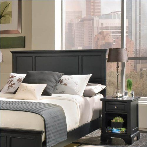 Home Styles 5531 5011 Bedford Queen Headboard And Nightstand Black