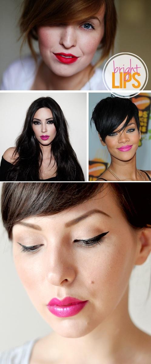 Fashion: Bright Lips {via My. Daily. Randomness.}