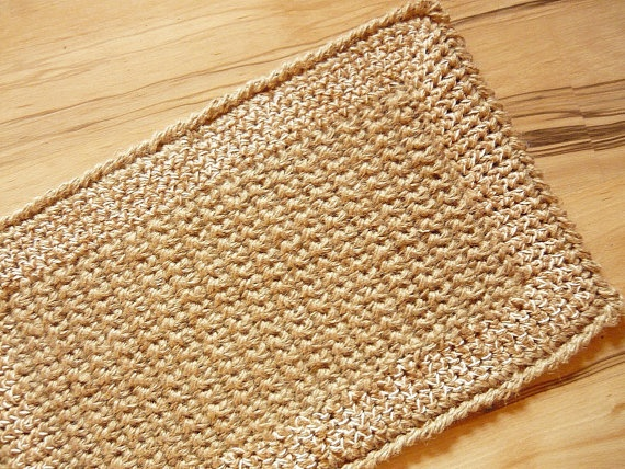 Unique Doormat Crochet Jute Rope Door Rug Handmade