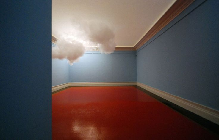 floating cloud installation by berndnaut smilde.