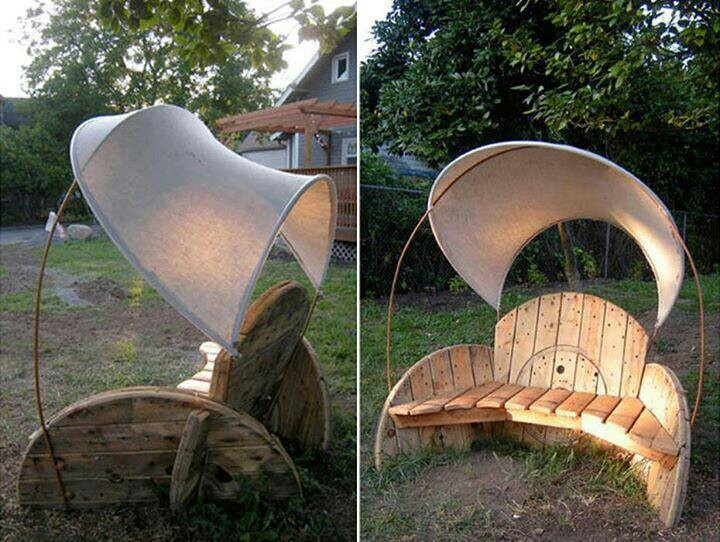 Spool chair Pallets and Crates