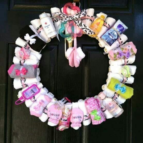 Baby welcome home wreath stationary gift ideas pinterest for Welcome home baby decorations