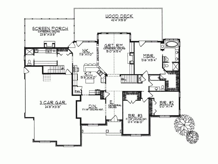 open concept ranch house plans pinterest