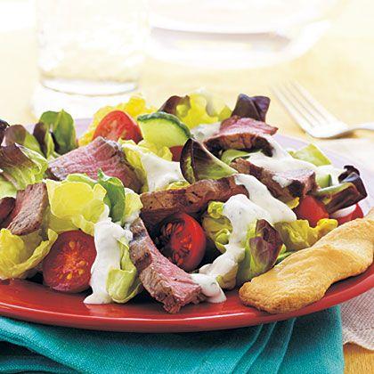 Steak Salad with Creamy Horseradish Dressing | Recipe