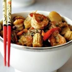 Spicy Honey Ginger Shrimp   food   Pinterest