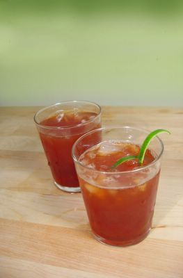 Lime ginger iced tea. I only made a half-recipe of this and am ...