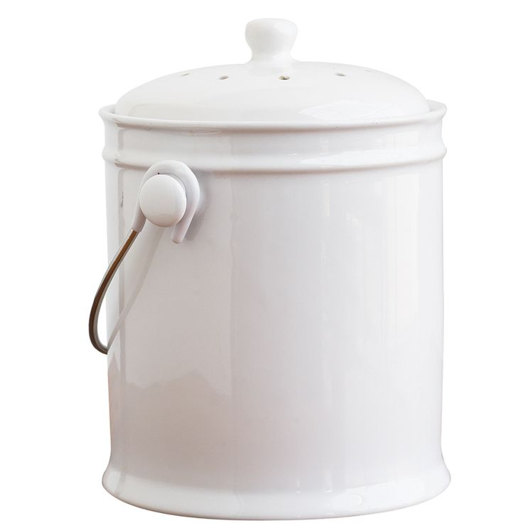 Countertop Compost : Ceramic Kitchen Countertop Composter Cooking Gadgets by Natural Home ...