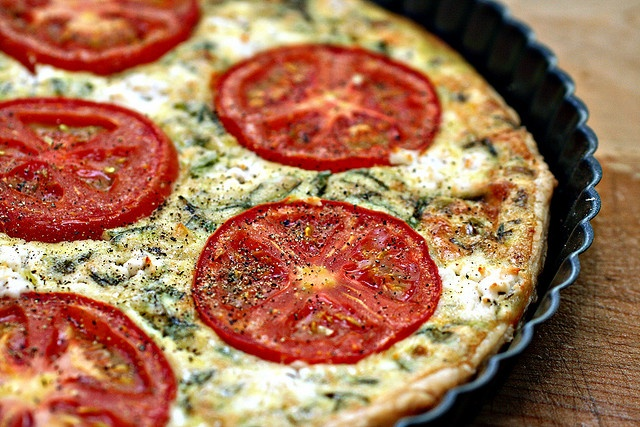 Tomato and Goat Cheese Tart | For the Home | Pinterest