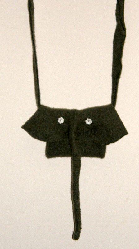 felted girl purse elephant shape moss green iPad by ...