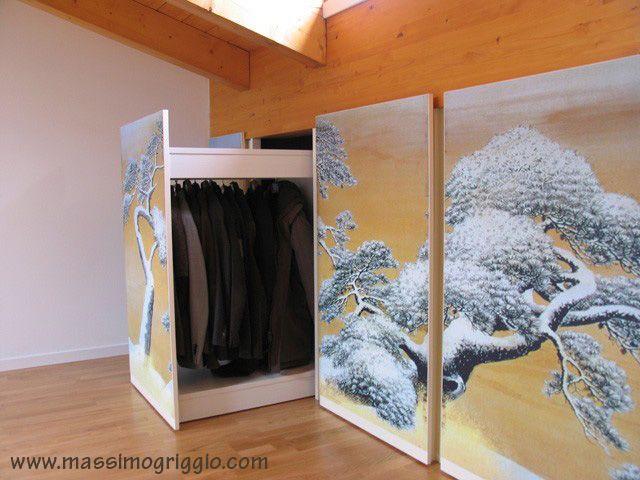 Mobili lavelli guardaroba bassi per mansarde - Cabine armadio in mansarda ...