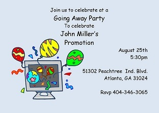 going away Party Invitations going away invitations Pinterest