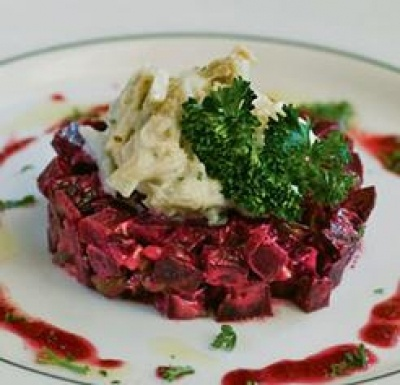 Jumbo Lump Crab with Roasted Beet Tartare | Louisiana Cookin'
