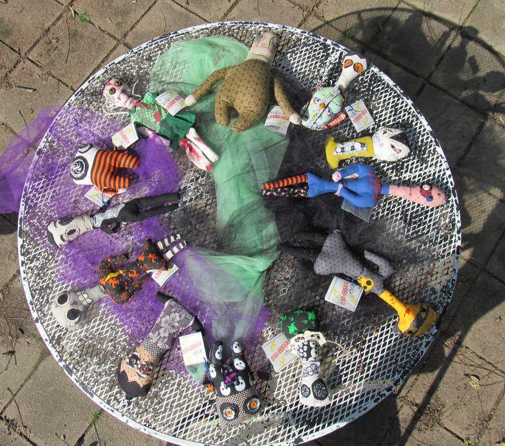 Koko Halloween : Halloween Dolls by @Koko Kreepies  Handmade Plushies + Fiber Art Dol