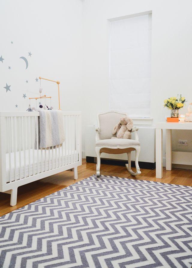 Calm, Modern Girl's Nursery by @Homepolish