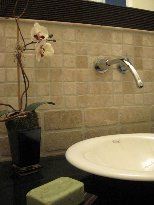backsplash faucet coming out of wall bathrooms pinterest