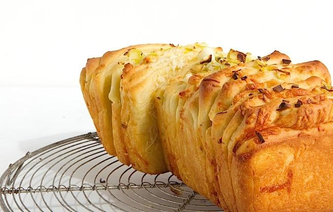 Cheesy, Green-Garlic Pull-Apart Bread | Bread & Butter | Pinterest