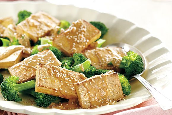 Tofu With No-Cook Peanut Sauce | asian inspired | Pinterest