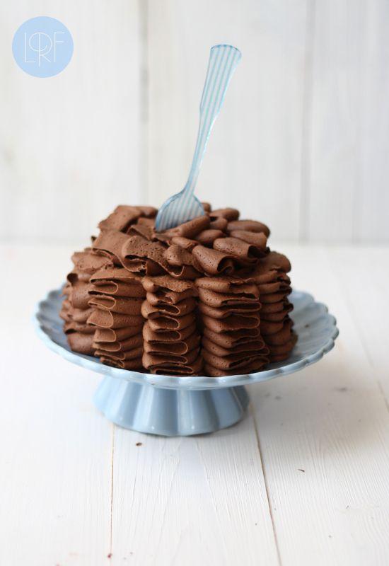 Vegan Chocolate Zucchini Ruffle Cake | Vegan Desserts | Pinterest