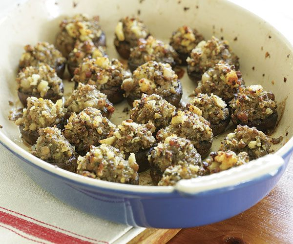 Stuffed Mushrooms With Pancetta, Shallots & Sage Recipes — Dishmaps