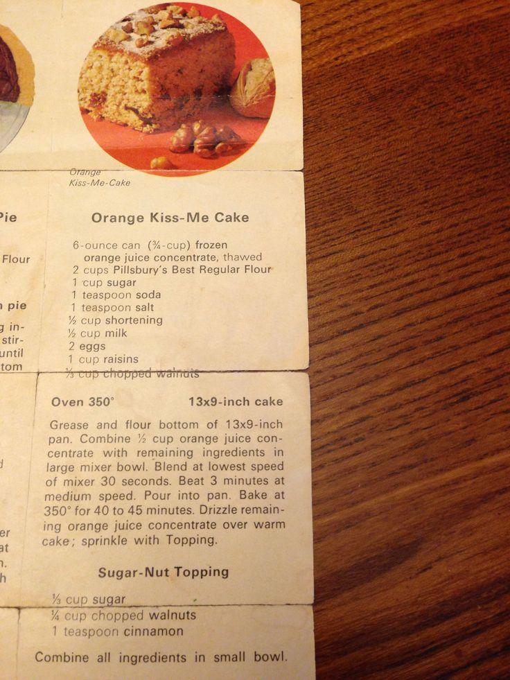 Orange Kiss-Me Cake | Sweet | Pinterest