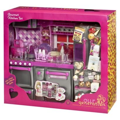 Our generation gourmet kitchen set madison pinterest for Doll kitchen set