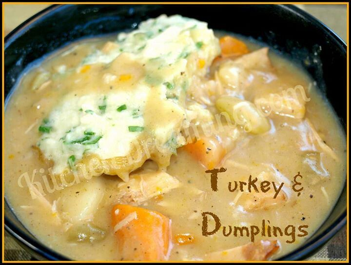 Turkey and dumplings | Favorite Recipes | Pinterest
