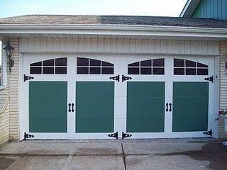 Painted faux carriage garage door for the home pinterest