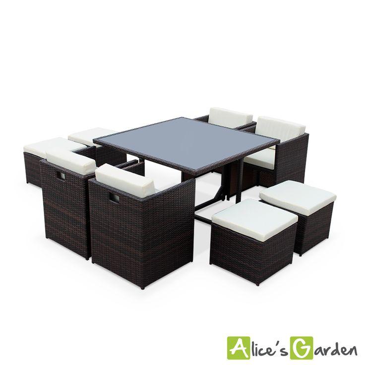 Table De Jardin : ... jardin/table/salon-de-jardin-encastrable-4-a-8-places-siracusa