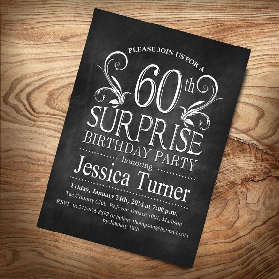 Surprise 60Th Birthday Invitations was very inspiring ideas you may choose for invitation ideas