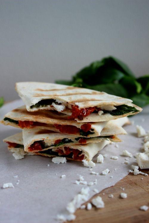 feta quiche spinach and feta quesadillas spinach and feta spinach feta ...