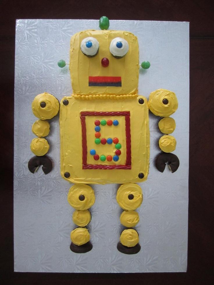 Robot Cake birthday theme ideas Pinterest