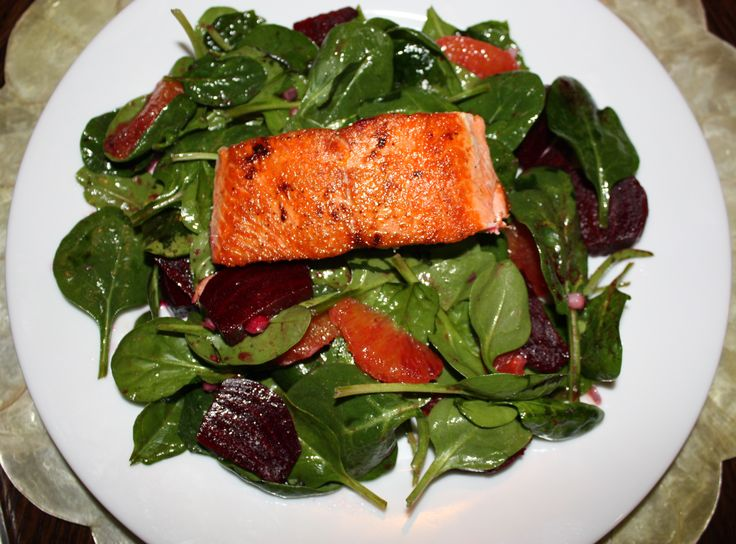 salad with vanilla bean vinaigrette salmon salad with fennel orange ...