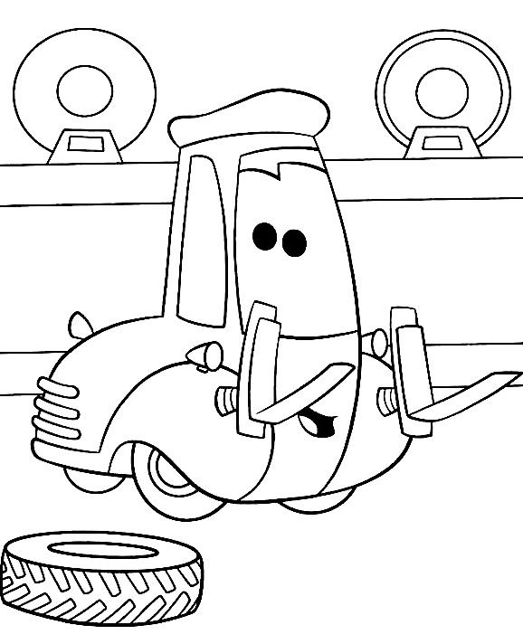 Mechanic shop coloring page coloring pages for Mechanic coloring pages