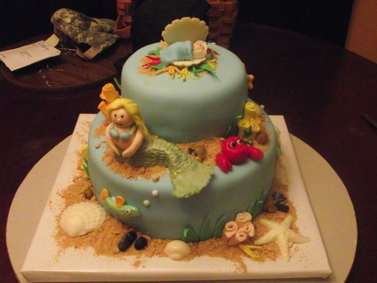 mermaid baby shower cake my cakes pinterest