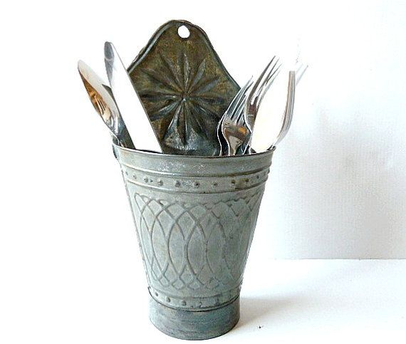 Antique French utensil holder .Shabby chic by CabArtVintage, $55.00