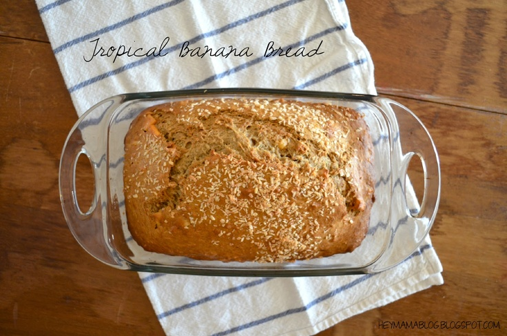Tropical Banana Nut Bread with Pineapple, Mango, Coconut, and Cashews ...