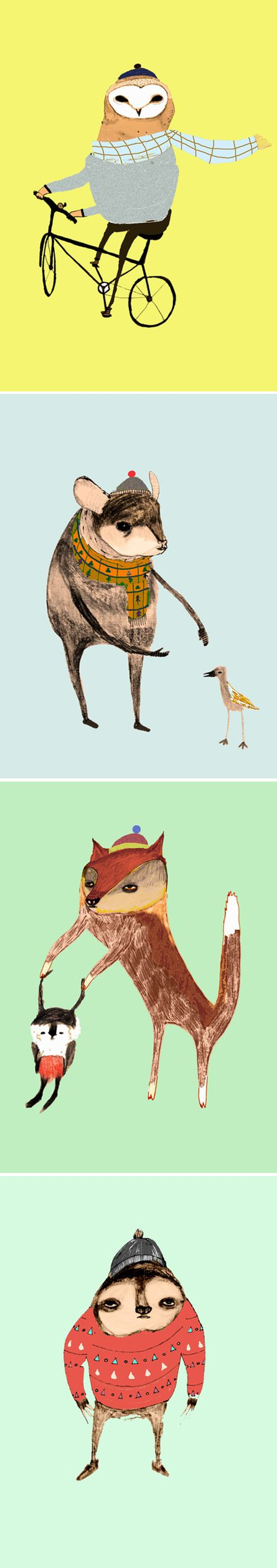 Playful Animals in Clothing