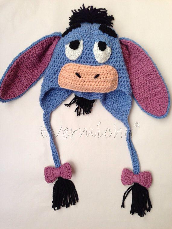 Knitted Tie Patterns : Blue donket crochet earflap hat