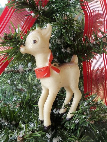 Vintage Plastic Rudolph The Red Nose Reindeer Christmas Ornament ...