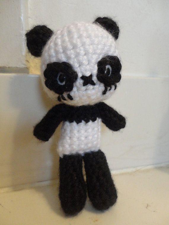 Amigurumi Patterns Panda Bear : Chibi Panda Bear Amigurumi ((PDF Crochet Pattern))