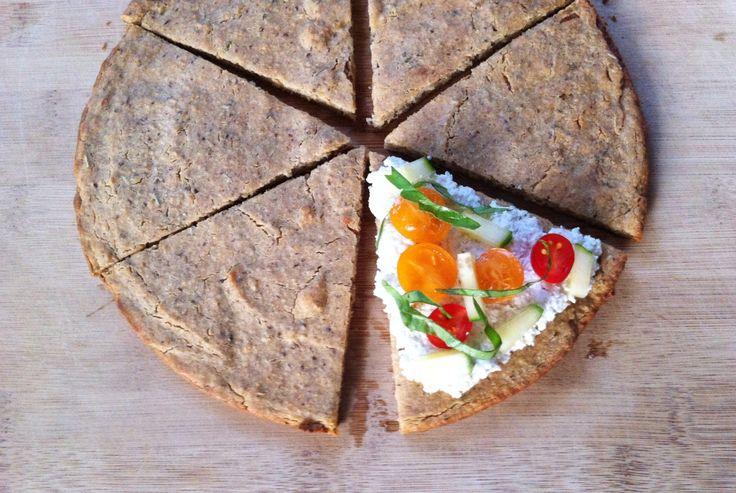 Quinoa Flatbread Made w/ Quinoa Flour and Almond Flour (vegan, gluten ...