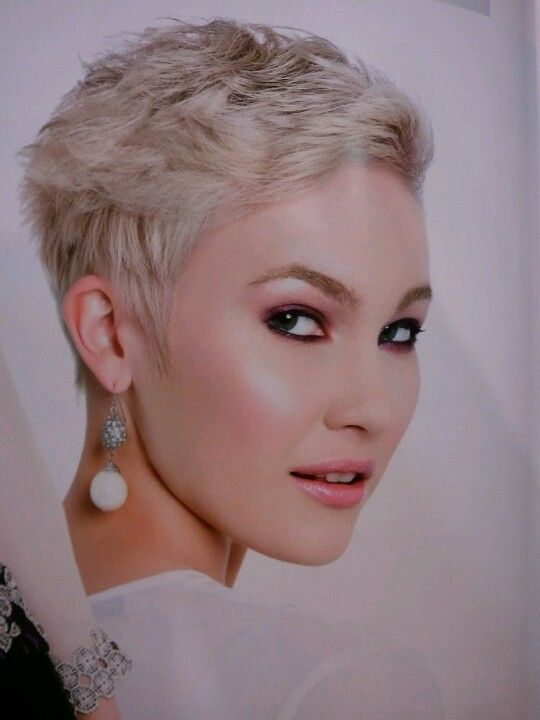 Very short but wavy.  Cute PostChemo Hairstyles to Consider  Pinte…