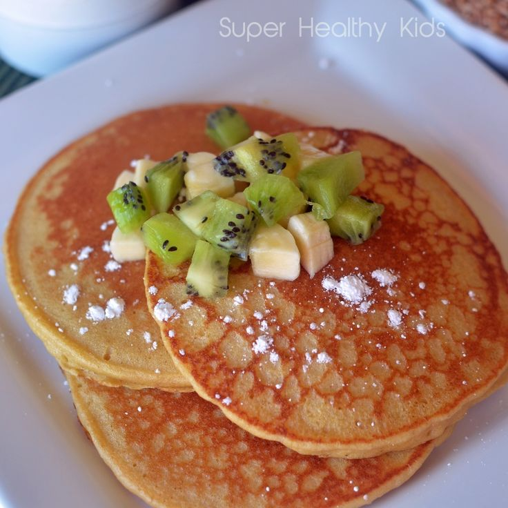 Blender Wheat Pancakes with Kiwi and Bananas | Healthy Ideas for Kids