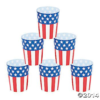 Patriotic Shot Glasses - They only come in packs of 50. Thoughts ...