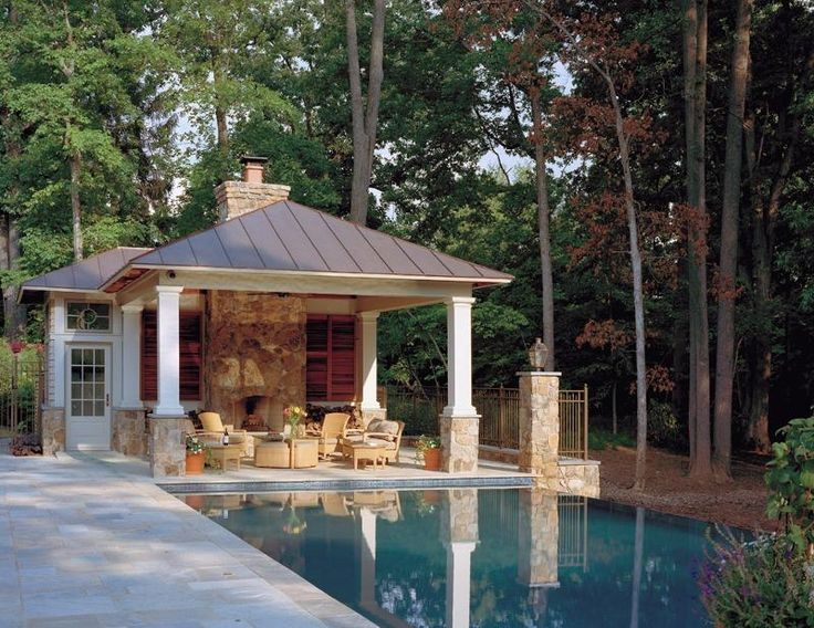 Open and casual favorite places spaces pinterest for Cool pool house ideas