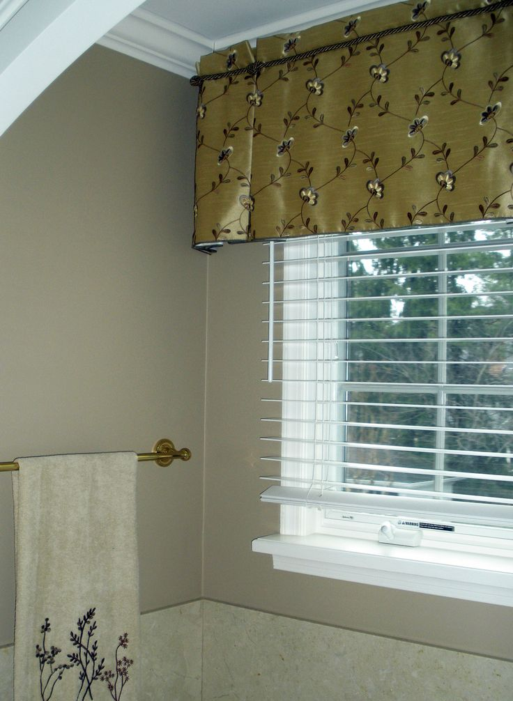 Custom Bathroom Window Treatment Custom Window Treatment Pinterest